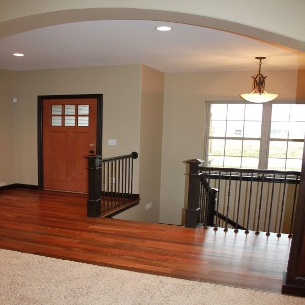 Living room and entry way