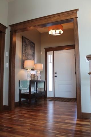 Front door entry way of recent wood flooring project we did