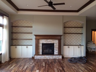 Living room shot of wood floor