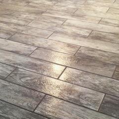 Grey colored laminate floor