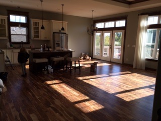 Finished living room wood floor install