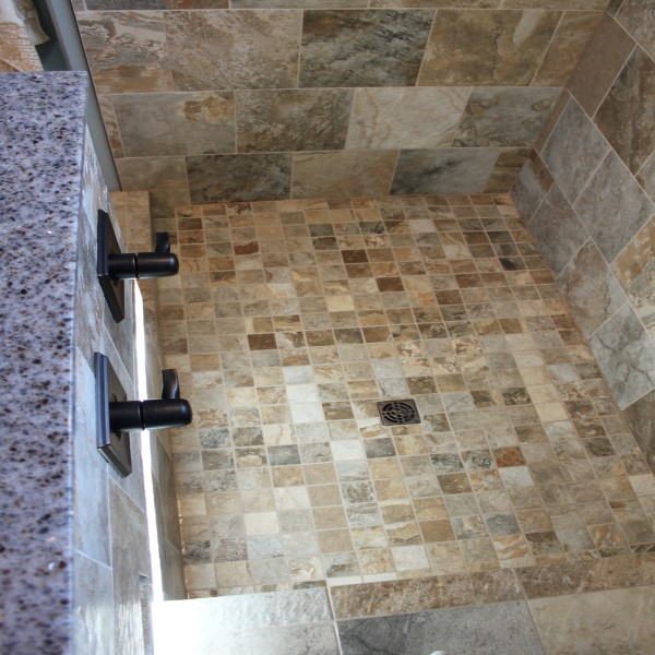 shower tile top view
