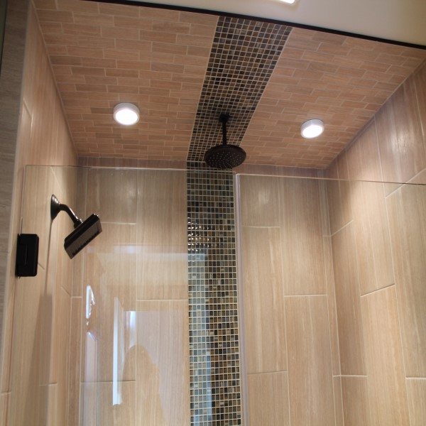 double shower tile example
