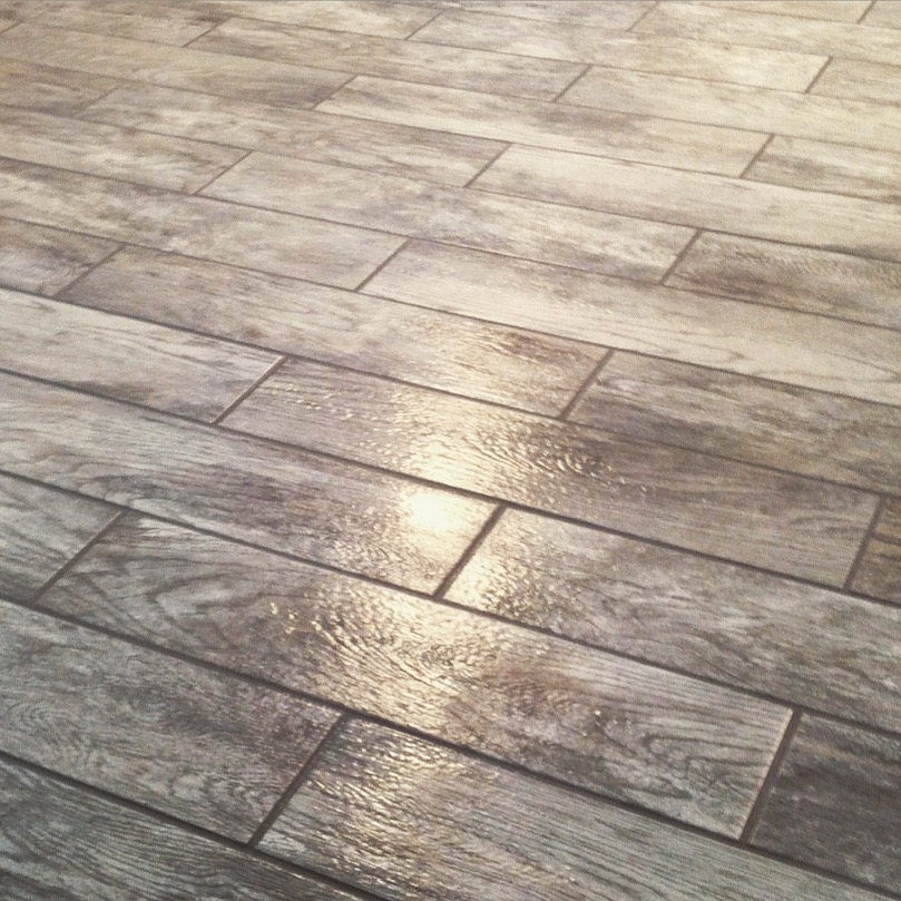Grey Floor Tile Installation in Cedar Rapids