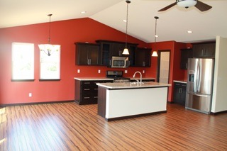 Kitchen laminate wood floor installation